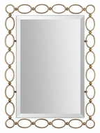 Uttermost 01119 Lauria 39 Inch Wide Contemporary Gold Leaf Home Mirror