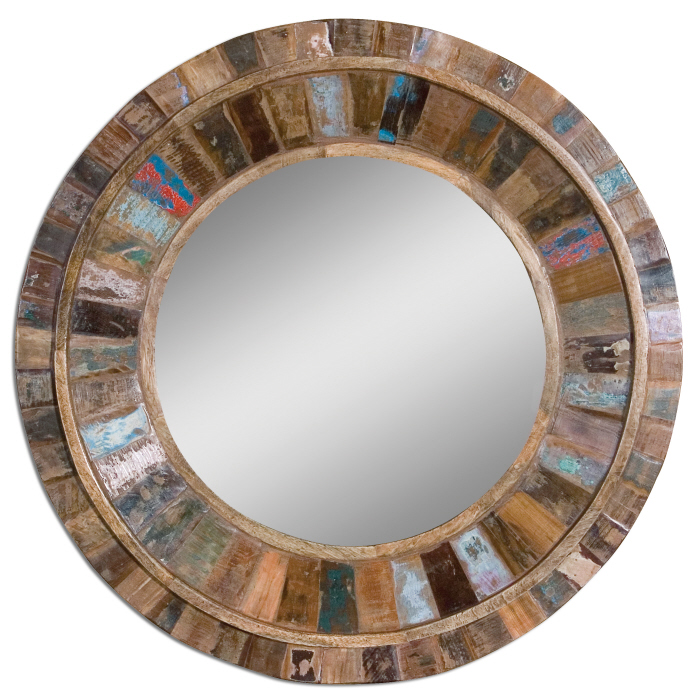 Uttermost 04017 Jeremiah 32 Nbsp Tall Contemporary Solid Mango Wood Mirror Loading Zoom