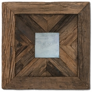 Uttermost 04018 Rennick Reflections Rustic Pine Wood Wall Mirror