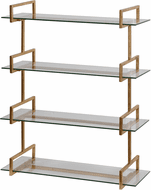 Uttermost 04038 Auley Contemporary Gold Leaf Wall Shelf
