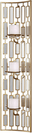 Uttermost 04045 Loire Modern Gold Leaf Candle Sconce
