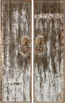 Uttermost 04143 Giles White Washed Wall Art