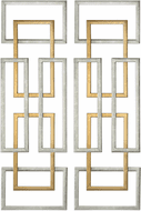 Uttermost 04145 Aerin Modern Silver and Gold Leaf Wall Art