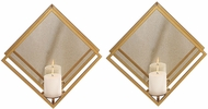 Uttermost 04167 Zulia Modern Gold Candle Sconces (set of 2)