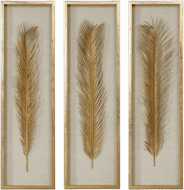 Uttermost 04176 Palma Contemporary Gold Leaf Wall Art