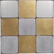 Uttermost 04183 Breena Contemporary Hand Applied Gold Leaf Checkerboard Wall Decor