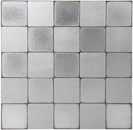 Uttermost 04193 Brigid Modern Hand Applied Silver Leaf Checkerboard Wall Art