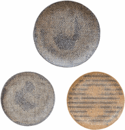 Uttermost 04217 Gaia Contemporary Tan, Grey, and Charcoal Wall Art