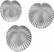 Uttermost 04231 Lotus Contemporary Silver Leaf Wall Art