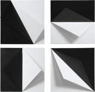 Uttermost 04259 Origami Modern Black and White Wall Art