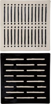 Uttermost 04278 Domino Effect Modern Black and White Wall Decor