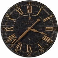 Uttermost 06029 Bond Street Retro 18  Black Wall Clock
