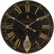 Uttermost 06030 Bond Street Vintage 30  Black Wall Clock