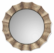 Uttermost 06048-P Gotham Antique Silver Leaf Scalloped Edge 41 Inch Tall Mirror