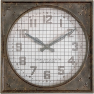 Uttermost 06083 Warehouse Clock Vintage Uttermost Warehouse Wall Clock W/ Grill
