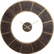 Uttermost 06102 Kerensa Dark Wooden / Gold Leaf Wall Clock