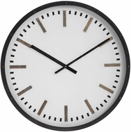 Uttermost 06103 Fleming White / Black / Antique Brass Wall Clock