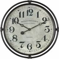 Uttermost 06449 Nakul Retro Industrial Wall Clock
