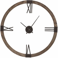 Uttermost 06454 Marcelo Natural Stained Fir Wall Clock