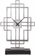 Uttermost 06455 Vanini Contemporary Antique Silver Tabletop Clock