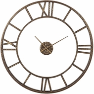 Uttermost 06456 Mylah Heavily Antiqued Gold Gold Wall Clock