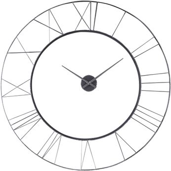 Uttermost 06458 Carroway Hand-forged Iron / Silver Wall Clock