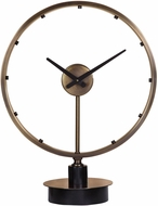 Uttermost 06459 Davy Contemporary Antique Brushed Brass With Aged Black Accents Wall Clock