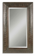 Uttermost 07027-B Guenevere 70 Inch Tall Traditional Embossed Copper Frame Wall Mirror - Mahogany Finish