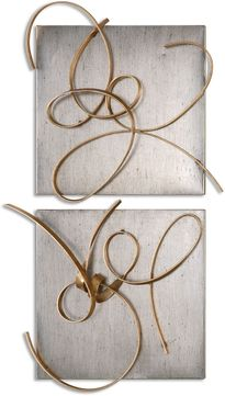 Uttermost 07071 Harmony Contemporary Gold and Silver Leaf Wall Decor