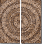Uttermost 07636 Lanciano Contemporary Wood Chip Wall Art
