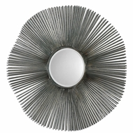 Uttermost 07655 Angelo Distressed Rust Green Finish Modern 36 Wide Square Metal Tubes Wall Mirror