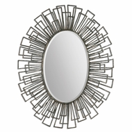 Uttermost 07661 Alcinia Distressed Rust Green Finish 37 Wide Square Metal Tubes Mirror