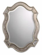 Uttermost 08026-B Felicie Beaded Edge 28 Inch Tall Shield Shaped Wall Mirror