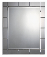 Uttermost 08052-B Makura Frameless 43 Inch Tall Mirror With Side Mirrors
