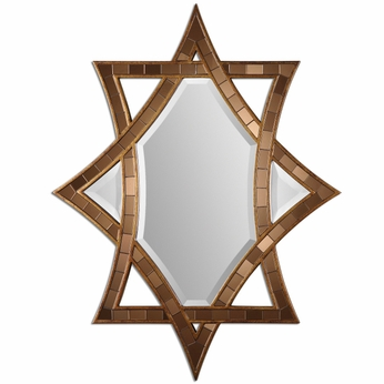 Uttermost 08113 Zorion Antiqued Gold Leaf Finish 42  Tall Copper Bronze Glass Wall Mounted Mirror