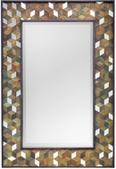 Uttermost 08158 Cadia Light Green Wash Wooden Mirror