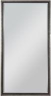 Uttermost 08163 Theo Mottled Antique Silver / Aged Gunmetal Mounted Mirror