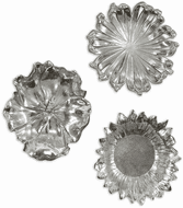 Uttermost 08503 Silver Flowers Contemporary Silver Wall Art