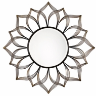 Uttermost 09057 Imani Contemporary Antiqued Metallic Gold Iron Sunflower Wall Mounted Mirror