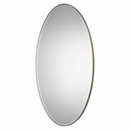 Uttermost 09095 Petra Oval Antiqued Silver Leaf Oval Wall Mirror