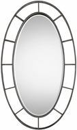 Uttermost 09182 Gilliam Aged Bronze Oval Wall Mounted Mirror