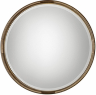 Uttermost 09244 Finnick Antiqued Silver Leaf Wall Mounted Mirror