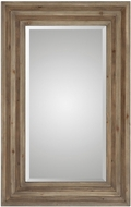 Uttermost 09297 Layton Aged Two Toned Walnut Stain Mirror