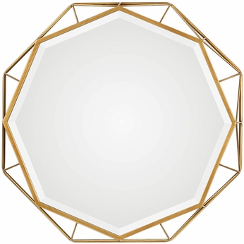 Uttermost 09317 Mekhi Contemporary Antiqued Gold Wall Mounted Mirror