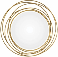 Uttermost 09348 Whirlwind Contemporary Gold Round Mirror