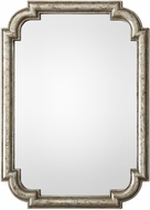 Uttermost 09385 Calanna Lightly Antiqued Distressed Silver Leaf Wall Mounted Mirror