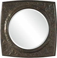 Uttermost 09411 Hadeon Aged Black With Rust Taupe Hammered Iron Mirror
