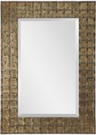 Uttermost 09423 Alderney Antiqued Gold Wall Mounted Mirror