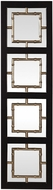 Uttermost 09436 Tadon Black Rectangle Wall Mounted Mirror