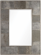 Uttermost 09452 Taelon Burnished Stone Gray Metal Panel Mirror